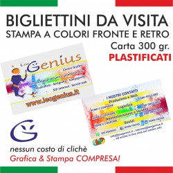 Bigliettini da visita - Plastificati