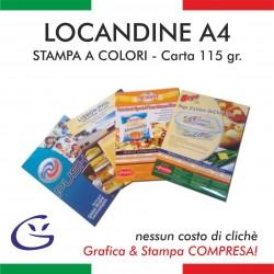 LOCANDINA A4 - CARTA 115 Gr.