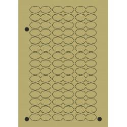 BOLLINO ADESIVO OVALE DOPPIO Mis. 50x16
